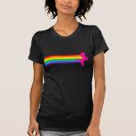 Unicornio retro del arco iris del vintage del tigr camiseta