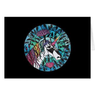 Unicornio - tarjeta de felicitación en blanco