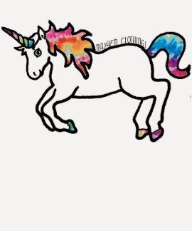 Unicornio teñido lazo camiseta