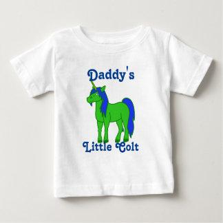 Unicornio verde con la melena azul camisas