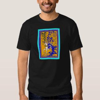 Unicornio Woodvine en el oro y el azul real por Camisas