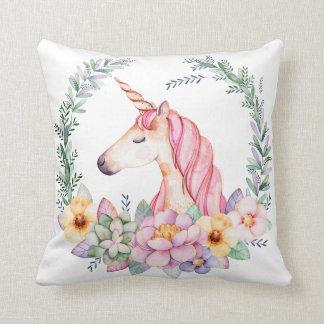 Unicornio y almohada de la flor
