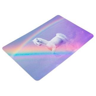 Unicornio y arco iris alfombra