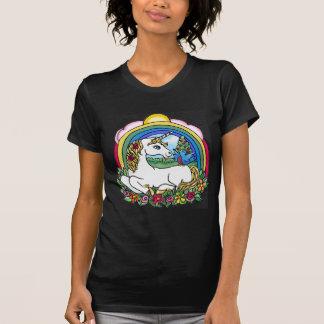 Unicornio y arco iris camiseta