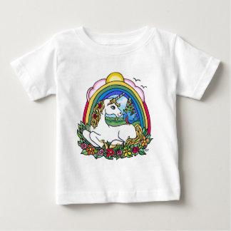 Unicornio y arco iris camiseta para bebé