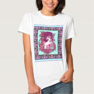 Unicornio y luna Azul-Púrpura Nouveau Desig del Camisas