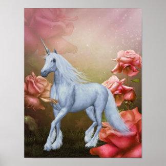 Unicornio y poster del caballo de la fantasía de l