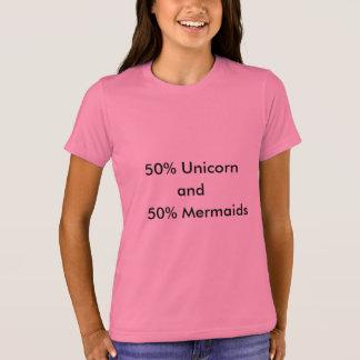Unicornio y sirenas camiseta