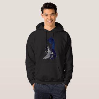 Unicornio y sudadera con capucha negra del dragón