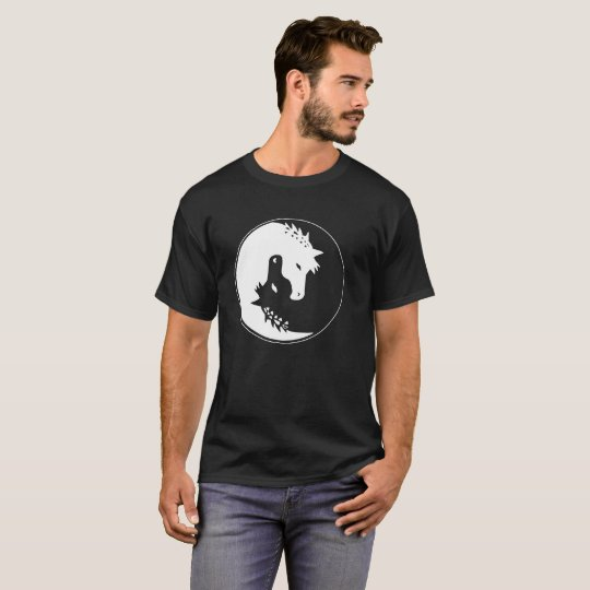Unicornio Yin Yang, unicornio Camiseta