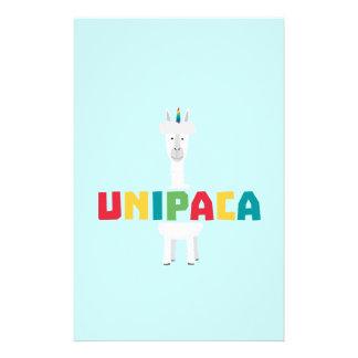 Unicornio Z0ghq del arco iris de la alpaca Folleto 14 X 21,6 Cm