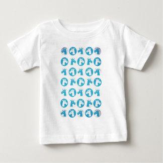 Unicornios azules del punto camiseta
