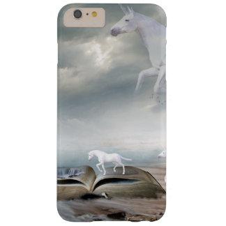 Unicornios blancos del cuento de hadas que vuelan funda barely there iPhone 6 plus