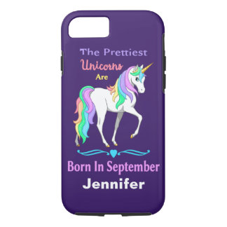 Unicornios bonitos del arco iris llevados en funda iPhone 7