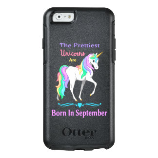 Unicornios bonitos del arco iris llevados en funda otterbox para iPhone 6/6s
