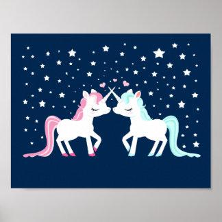 Unicornios en amor póster