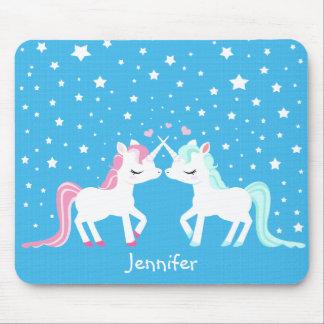 Unicornios en el mousepad del amor adaptable