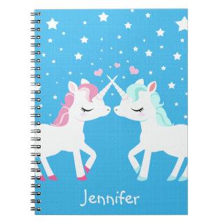 Unicornios en espiral del amor - el cuaderno encua
