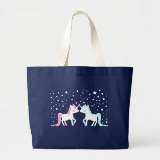 Unicornios en la bolsa de asas del amor