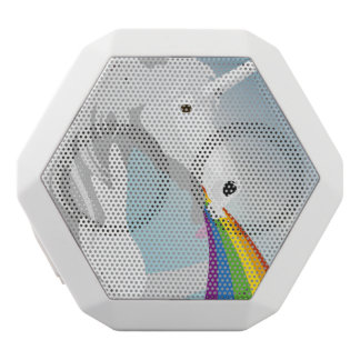 Unicornios puking del ejemplo altavoz blanco con bluetooth