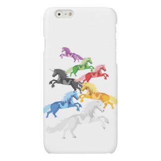Unicornios salvajes coloridos del ejemplo