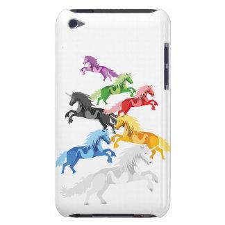 Unicornios salvajes coloridos del ejemplo funda Case-Mate para iPod