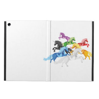 Unicornios salvajes coloridos del ejemplo funda para iPad air