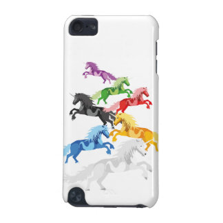Unicornios salvajes coloridos del ejemplo funda para iPod touch 5