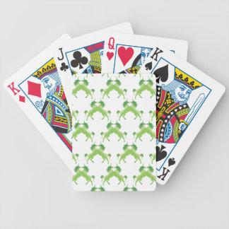 Unicornios verde oscuro del trébol cartas de juego