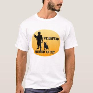 Unidad militar K9 Camiseta