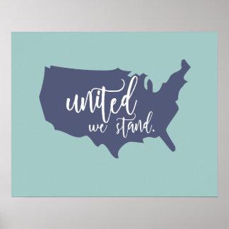 Unido colocamos el poster póster