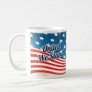 Unido colocamos el vintage taza de café