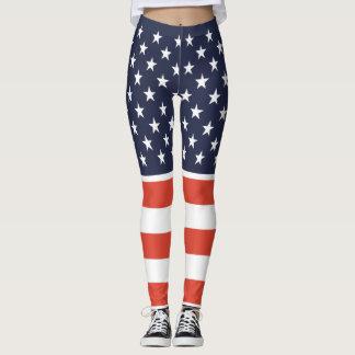 Unido colocamos las polainas de la bandera leggings