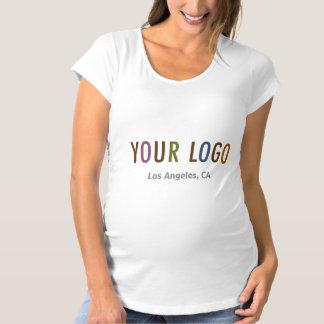Uniforme de encargo del logotipo del negocio de la camiseta de premamá