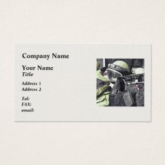 Uniforme del escuadrón de la muerte tarjeta de visita