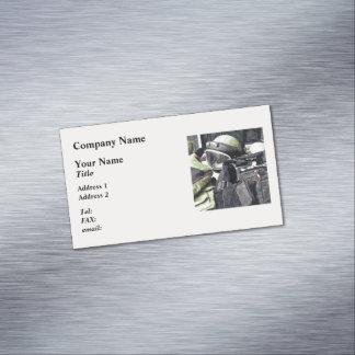 Uniforme del escuadrón de la muerte tarjeta de visita magnética