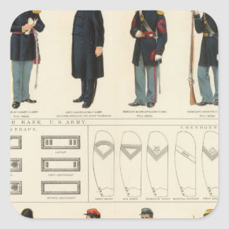 Uniformes, los E.E.U.U., ejércitos del CS Pegatina Cuadradas Personalizada