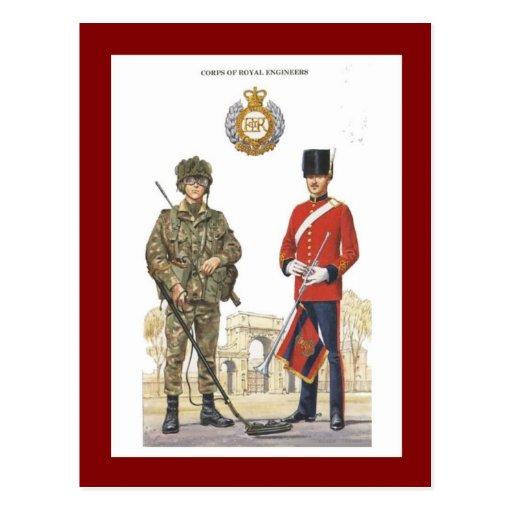 Uniformes militares del vintage, ingenieros reales postales