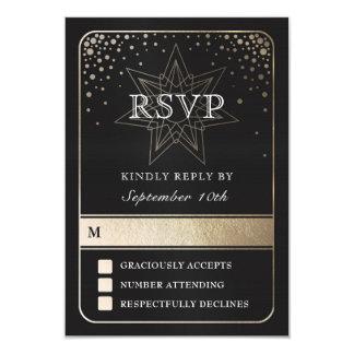 Unión celestial que casa las tarjetas de RSVP
