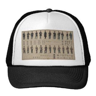 Unión de la guerra civil y uniformes de los soldad gorra