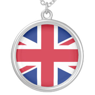 Union Jack Collar Plateado