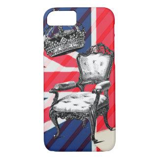 Union Jack de la corona del jubileo de la silla Funda Para iPhone 8/7