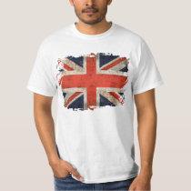 Union Jack destrozado envejecido Camiseta