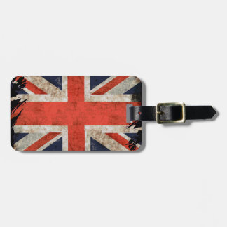 Union Jack destrozado envejecido Etiquetas Para Maletas