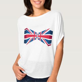 Union Jack doble, bandera británica en 3D Camiseta