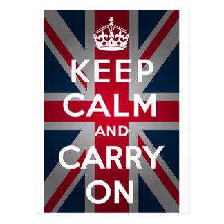 Union Jack guarda calma y continúa Postales