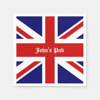 Union Jack personalizó el Pub británico Servilleta Desechable