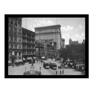 Unión Square, New York City, 1906, carretilla, Postal
