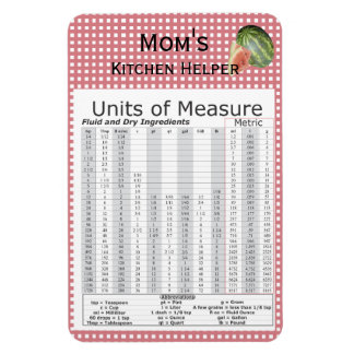 Units of Measure Watermelon Design Magnets
