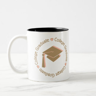 Universidad Brown rosado graduado Taza De Café